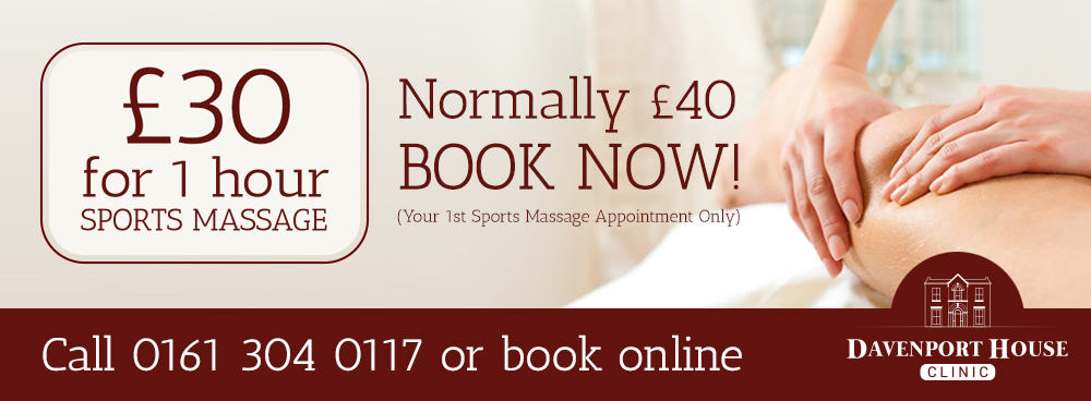 £20 for 1 hour sports massage