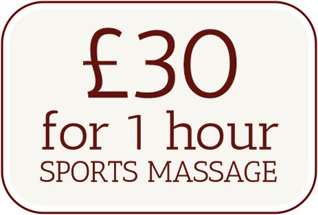 £20 for a 1hour sports massage