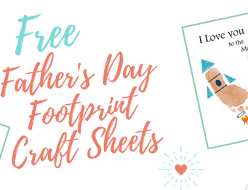 4 Father's Day Footprint Keepsakes